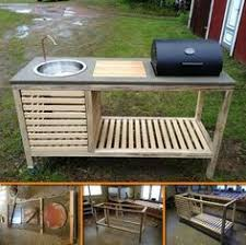 Stainless Steel Fish Cleaning Station With Sink by Learn To Build Your Own Rolling Outdoor Island With Free Building