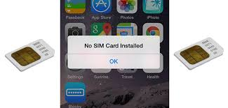 no sim card installed iphone 6