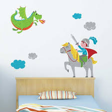 stickers chambre bébé garcon sticker mural et chevalier motif enfant garçon pour