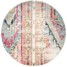 Round Texas Star Area Rugs Southwestern The Home Depot Multi 6 Ft Rug Rustic