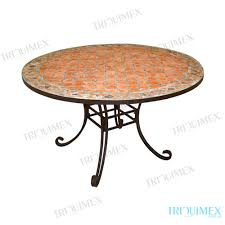 terracotta tile top outdoor dining table