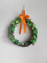 Spring Rustic Wreath Crochet Easter Wall Decor St