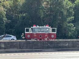 100 Antique Fire Truck Vintage Fire Truck Crashes Into I10 Barrier