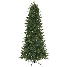GE 75 Ft Pre Lit Aspen Fir Slim Artificial Christmas Tree With 800 Constant