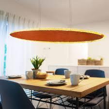 etc shop hängeleuchte led decken hänge le rost wohn ess zimmer beleuchtung goldoptik pendel leuchte dimmbar l 115 cm kaufen otto