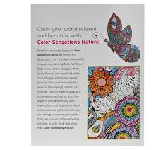 Color Sensation Set Of 2 Coloring Books With Colored Pencils