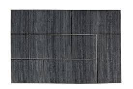 heine home teppich wohnzimmer esszimmer flur uni grau mit 4 eck muster ca 133x190 cm cloth