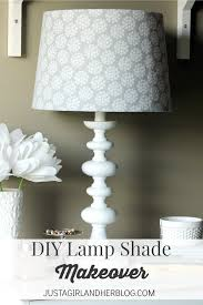 How To Transform A Lamp Shade With Fabric