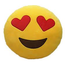 Amazon LI&HI 32cm Emoji Smiley Emoticon Yellow Round Cushion
