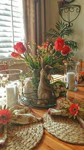 Spring Table Decor Vignette
