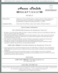 Best Resume Template Australia 2017 Example Of Examples Receptionist Sample Australian