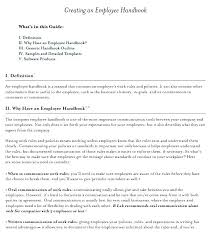 Company Manual Template Word Employee Training Templates Restaurant Handbook Developing A Guide