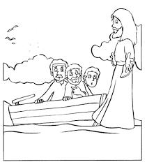 Bible Coloring Pages Peter Walking On WaterColoringPrintable New Jesus Walks Water Page