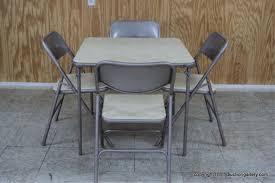 vintage samsonite card table chair set