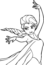 Elsa Coloring Pages Online Archives Inside Page