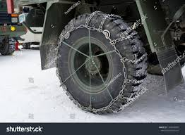 Snow Chains On Tires Truck Winter Stock Photo (Edit Now) 1243949809 ...