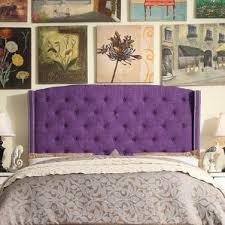 Purple Velvet King Headboard by Purple Headboards You U0027ll Love Wayfair