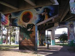 Chicano Park Murals Map by Birth Of La Raza Painting In Chicano Park