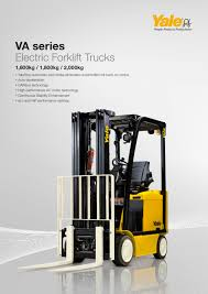 100 Yale Lift Trucks ERC1620VA PDF Catalogs Technical Documentation Brochure