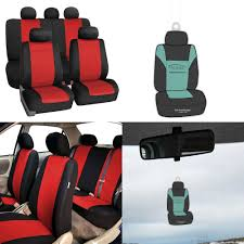 100 Neoprene Truck Seat Covers BESTFH Car Full Set For Auto Car SUV