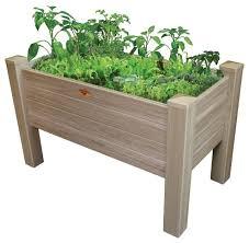 gronomics vinyl elevated garden bed 24 x 48 x 32 12 d
