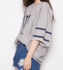 Summer Korea Street Fashion With Hip Hop Loose Shirt And Short Pant
