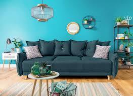 schickes dreiersitzer sofa mit bettfunktion