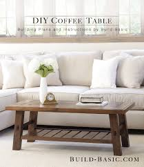 build a diy coffee table basic wood slab plans by project opener