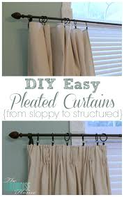 Sewing Curtains For Traverse Rods diy easy pleated curtains from sloppy to structured the