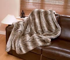 Amazon Tundra Wolf Luxury Faux Fur Throw Blanket Standard 71
