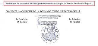 cour de cassation bureau d aide juridictionnelle ma demande d explications au bureau d aide juridictionnelle près
