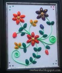 My Hobbies Colorful Pista Shell Flowers Find This Pin And More On Plastic Spoon Crafts