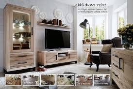 wohnzimmer set 3 teilig balkeneiche massiv casade mobila