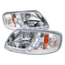 97 03 ford f150 expedition chrome one projector headlights