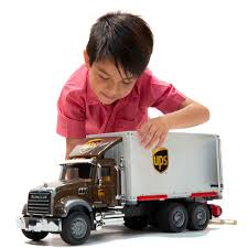 Bruder Toys Pretend Play MACK Granite UPS Logistics Truck W ...