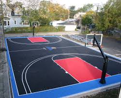 Lovely Decoration Backyard Basketball Court Ideas Interesting ... Multisport Backyard Court System Synlawn Photo Gallery Basketball Surfaces Las Vegas Nv Bench At Base Of Court Outside Transformation In The Name Sketball How To Make A Diy Triyaecom Asphalt In Various Design Home Southern California Dimeions Design And Ideas House Bar And Grill College Park Half With Hill