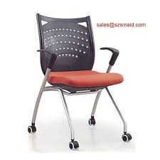 sell stackable office chair with wheels id 19840507 from shenzhen