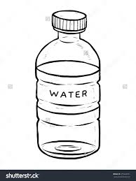 Drinking Water Bottle Clipart Black And White 670