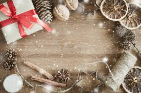 Download Christmas Holiday Background Rustic Xmas Decorations On Wooden Vintage Image With Drawn