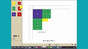 algebra tiles factoring factoring trinomials with algebra tiles
