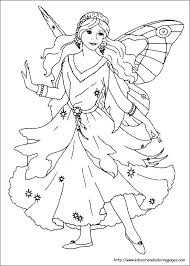 Fairy Unicorn Coloring Pages Fairies Free For Kids Remarkable And