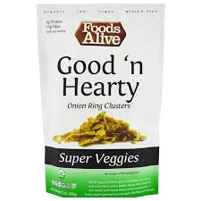 Foods Alive Super Veggies Good N Hearty Onion Ring Clusters 2
