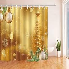 weihnachten duschvorhänge für bad weihnachtskugeln
