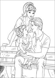 Activities Family For Kids Barbie Coloring Pages