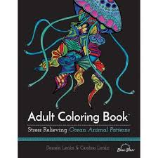 Stress Relieving Ocean Animal Patterns Adult Coloring Book