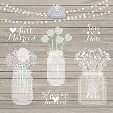 Rustic Mason Jar Clipart Illustrations Creative Market