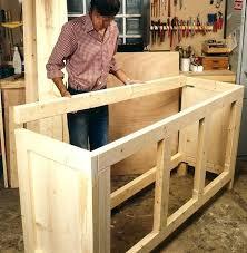 fabriquer un meuble de cuisine construire meuble de salle de bain fabriquer ilot de cuisine