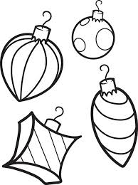 Printable Coloring Page Of Four Christmas Ornaments