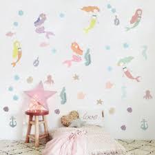 details zu aufkleber meerjungfrau lila pink set diy wandtattoo silhouette sticker
