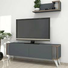 tv mobile avec des étagères étagères nicol pour le salon